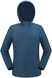 BEESCLOVER Outdoor Hiking Camping Fishing Jacket Lightweight Breathable Waterproof Sport Trench Coat for Men