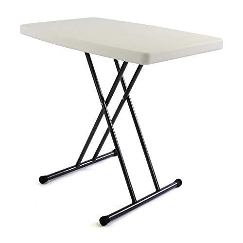 SONLEX Partytisch Beistelltisch 50x70 cm weiß Campingtisch Kunststoff höhenverstellbar Balkontisch Bistrotisch