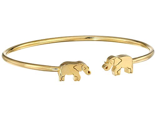 Alex and Ani Women's Elephant Cuff Bracelet, 14kt Gold Plated, Expandable