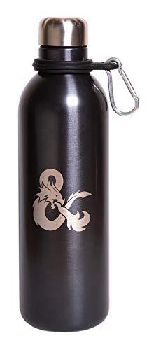 Grupo Erik Botella de Agua Acero Inoxidable con mosquetón Dragones y Mazmorras, Donjons & Dragons, 500 ml