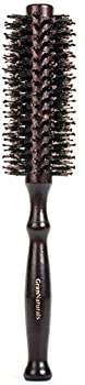Boar Bristle Round Styling Hair Brush - 1.75 Inch Diameter - Blow Dryer & Curling Roll Hairbrush with Natural Wooden Handle for Women and Men - Used While Blow Drying to Style Curl and Dry Hair
