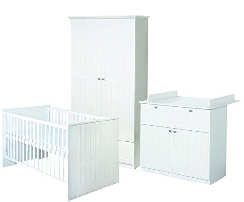 roba Komplett-Kinderzimmer 'Dreamworld 3', bestehend aus Kinderbett 70 x 140 cm, Wickelkommode, Kleiderschrank 2-türig
