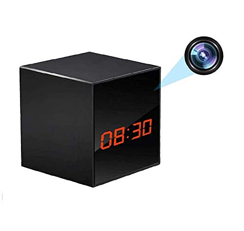 LIZVIE Hidden Spy Camera Clock Nanny Cam, HD 1080P Wireless Surveillance Cameras for Home Security Monitor with Night-Vision Motion-Detections