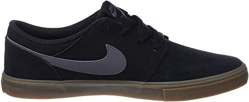 Nike SB Portmore II Solar, Zapatillas de Skateboard Unisex Adulto, Negro (Black/Dk Grey/Gum Lt Brown 009), 42 EU