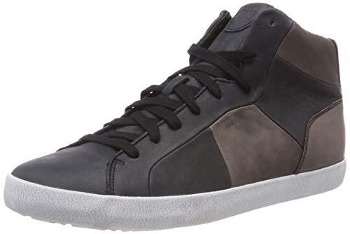 Geox U Smart A, Baskets Hautes Homme, Noir (Black/Coffee C0630), 45 EU