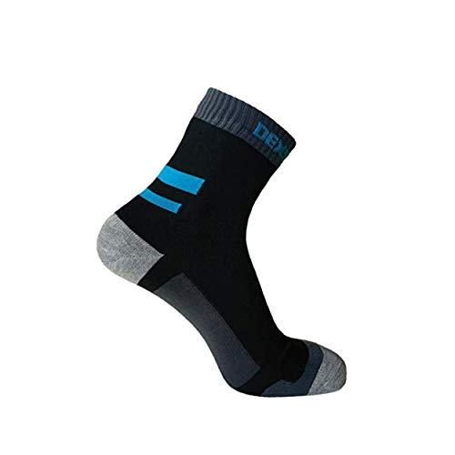 Dexshell Hommes Course Imperméable Respirant Flexible Coolmax Sports Chaussettes - Bleu, M
