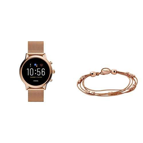 Fossil Smartwatch Pantalla táctil para Mujer de Connected + Pulsera