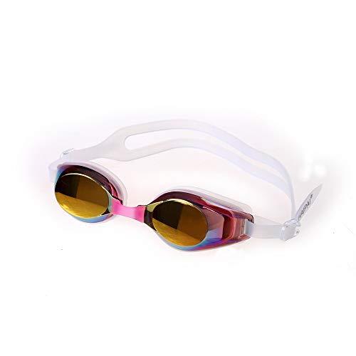 MHP zwembril volwassen wedstrijd racebril plating HD anti-mist bril roze