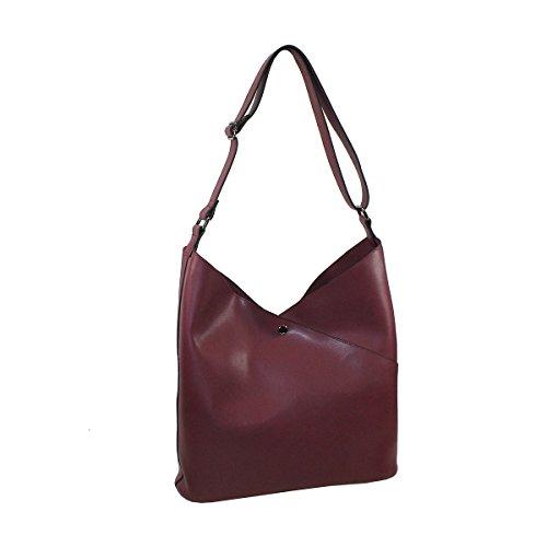 Glüxklee Damen Shopper Handtasche (Weinrot)