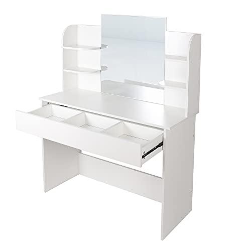 Einzigartiger Kosmetiktisch mit Spiegel, elegantes Design, Schubladen zum einfachen Anziehen, zusätzlicher Stauraum für Ihren Schmuck, perfekte Dekoration für jedes Schlafzimmer