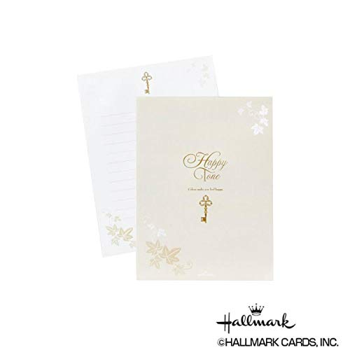 シンプルなデザインが使いやすい便箋。 Hallmark ホールマーク 便箋 パッド カギ 6セット 747336 〈簡易梱包