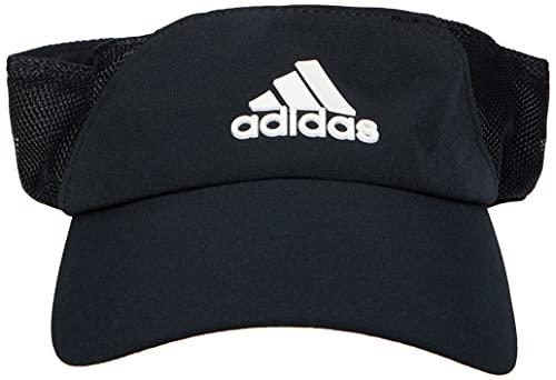 adidas Herren Aeroready Visor Kappe, Black/White, OSFW