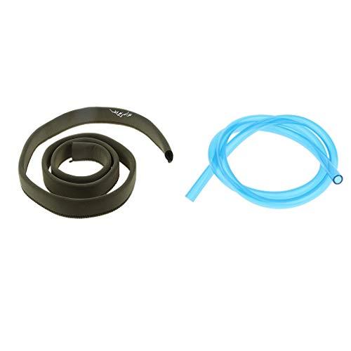 perfk 2pcs Rohrhülse für Outdoor Trinkblasen Rohre,Innendurchmesser: ca. 12mm