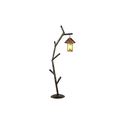 CLJ-LJ Lámpara - Plano americano retro creativa Lámpara de pie creativa de hierro forjado Farol lámpara de pie