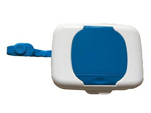 Portable Wet Tissue Box Wipes Dispenser Case Outdoor Tissue Box for Baby Travel (Blue)