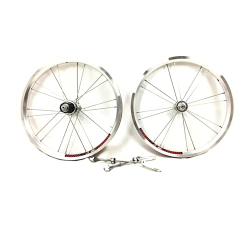 Juego de ruedas ligeras para BROMPTON en plata