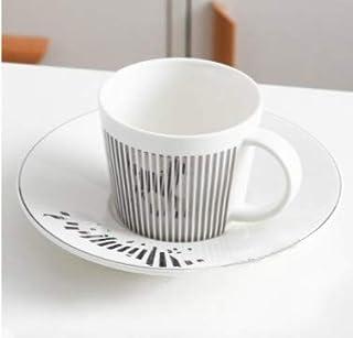 dunkel aus Edelstahl Kaffeebecher und Untertassen UPKOCH Albero Tassenhalter f/ür 6 Tassen