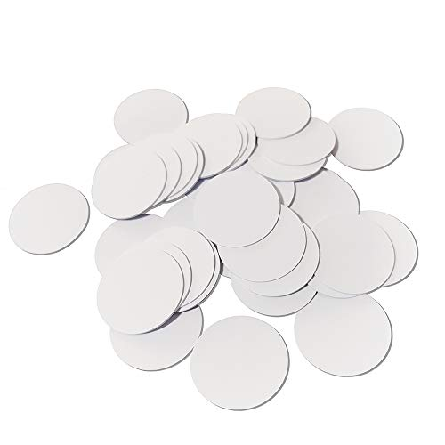 40PCS NTAG215 NFC Tags 25mm Round White NFC Coins, Compatible with Amiibo Tagmo and NFC-Enabled Cell Phone and Devices