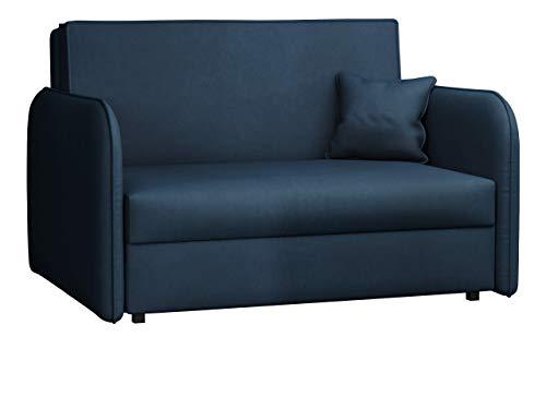 Mirjan24 Sofa Viva Loft II mit Schlaffunktion, Couch 2 Sitzer Polstersofa mit Bettkasten inkl. Kissen, Sofagarnitur, Schlafsofa, Bettsofa, Wohnlandschaft, Farbauswahl (Mono 241)