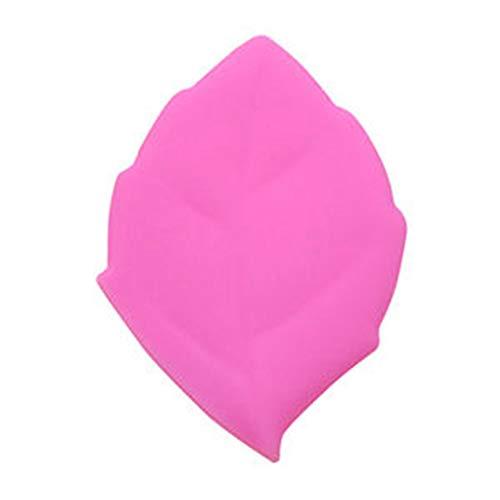 Mug créatif tasse en silicone Coupe de voyage en forme de feuille Tasse de voyage pour sport en plein air pique-nique randonnée (Rose/bleu/vert/jaune), rose