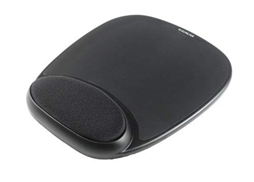 Kensington ergonomisches Duo Gel Mauspad mit Handgelenkauflage, kompatibel mit Laser- und optischen Mäusen für Komfort am Computer, Laptop, Büro, PC und Gaming, rot/schwarz, 62402