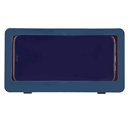 01 Estante para teléfono en el baño, Vista de Alta definición Caja para teléfono para Ducha Estable montada en la Pared, para Soporte Impermeable para teléfono en la Ducha Baño(Dark Blue)