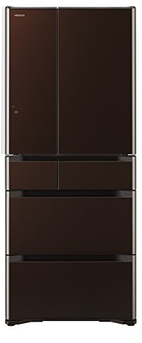 日立 真空チルド 冷蔵庫 クリスタルブラウン R-G6200F XT
