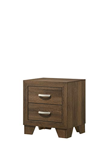 Tdbest Nightstands Wood Side Table with 2 Drawer, Modern Nightstand for bedrooms, 22 x 16 x 24 Inches (Oak)
