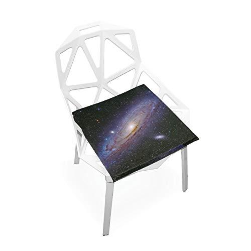 Cojín de espuma viscoelástica para sillas de cocina, suave, lavable, antipolvo, silla de comedor, almohadilla de 40,6 x 40,6 cm (Nebulosa espacial) 2030041