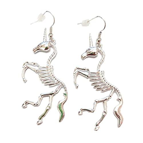 Froiny 1 Pares Pendientes para Mujer Divertido Esqueleto Drop Pendientes Declaración Pendientes Joyería
