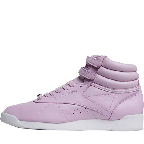 Reebok Classics Freestyle - Zapatillas Deportivas para Mujer, Color Rosa, Plateado y Blanco