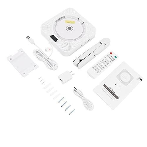 LeftSuper Reproductor de música de CD portátil montado en la Pared para el hogar o Boombox con Control Remoto Radio FM Altavoz de Alta fidelidad Incorporado