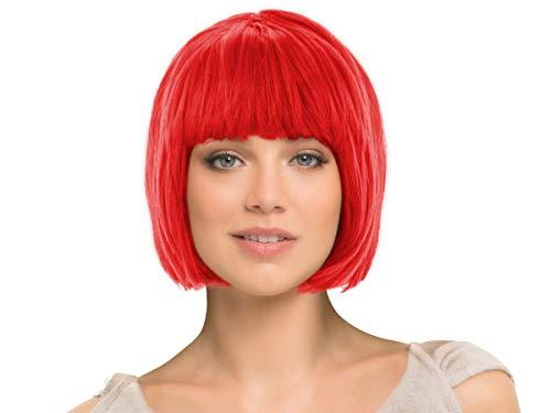 Alsino Perücke Karneval Kurzhaar glatt als Bob Haarschnitt, Farbe wählen:kurz rot