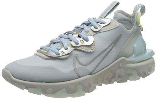 Nike React Vision W, Scarpe da Corsa Donna, Celestine Blue/Light Silver/Light Bone/Metallic Platinum, 38.5 EU