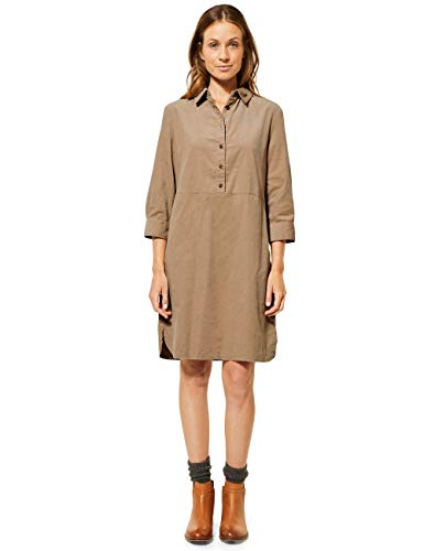Cecil Damen 142756 Cordkleid in Unifarbe Kleid, Soft Camel, Small