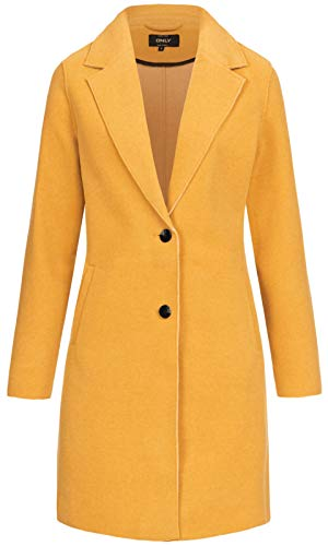 ONLY Damen Übergangsmantel Carrie Bonded Coat goldgelb M