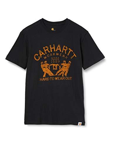 Carhartt Maddock Hard To Wear out Short-Sleeve T-Shirt, Black, 2XL para Hombre