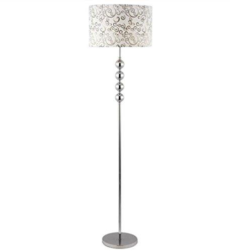 Lampadaire Lecture de torchère lampadaire tissu abat-jour lampe fer forgé salon Base chambre chevet éclairage décor blanc