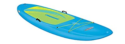 Pelican - SUP - Hardshell Stand-Up Paddleboard - Lightweight Board with a Bottom Fin for Paddling, Non-Slip Deck - Perfect for Youth & Adult (Cyan Blue, 10 ft), Model:FAS10P207-00