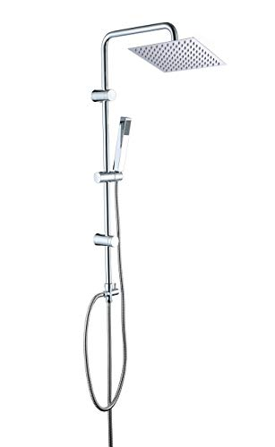 JOHO ABS Regendusche Duschsystem Duschgarnitur (30x30cm Eckig)