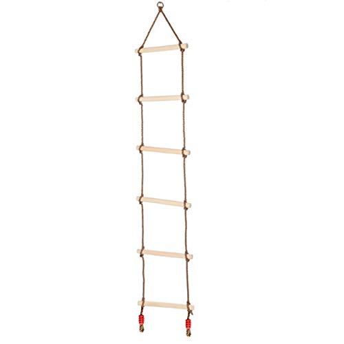 CHUN LING Escalera de Cuerda de Escalada para niños, Accesorios de Patio al Aire Libre, Escalera de Cuerda con oscilación de obstáculos Ninja, Juego de Escalada de Varios peldaños