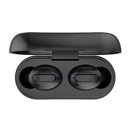 1 par de Auriculares intrauditivos inalámbricos Bluetooth 5.0 con Estuche de Carga de 300 mAh Auriculares estéreo TWS Impermeables para Deportes - Negro 1 TAMAÑO
