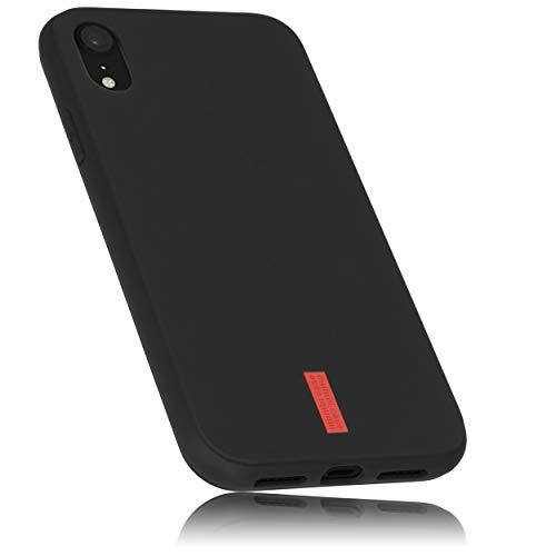 mumbi Hülle kompatibel mit iPhone XR Handy Hülle Handyhülle, schwarz mit rotem Streifen