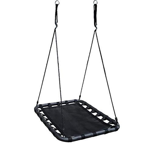 XWF Schaukeln Hängende gigantische Decke Schaukel Indoor Outdoor Stahlrohr PP Swing Kinder Spielzeug Früherziehung Schaukeln (Color : Black, Größe : 100 * 75cm)