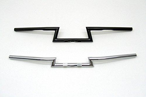 Fehling Motorrad Lenker ZBar, hoch, 850 mm, 1 Zoll, mit Kerbe, schwarz, mit ABE