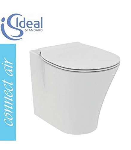Ideale standaard - Staande toilet terug naar muur met zitting Connect Air - Wit, Met slanke langzame soft-close toiletbril, In voorraad