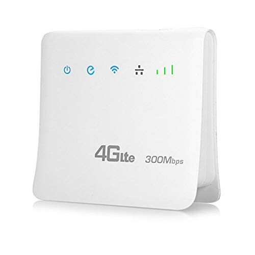 JIAX 300Mbps WiFi Routers 4G LTE Cpe Mobile Router with LAN Port Support SIM Card Portable Wireless Router WiFi 4G Router