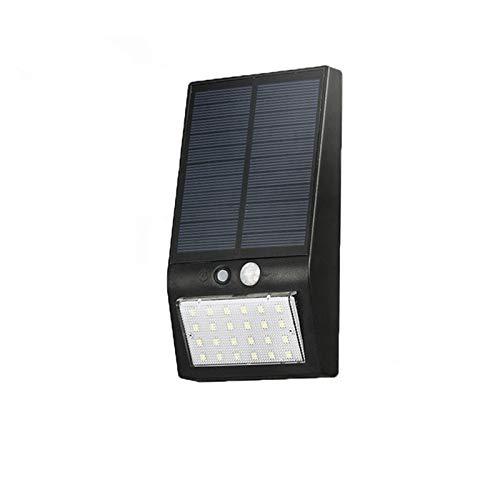 ZYJ LED Solar Beleuchtung angetriebene Wasserdichte Gartenhaus Wandleuchten, schwarz