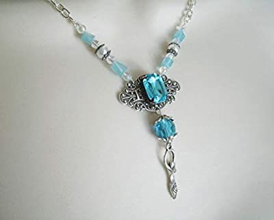 Element Of Water Goddess Necklace, handmade jewelry wiccan pagan wicca witch witchcraft magic handfasting