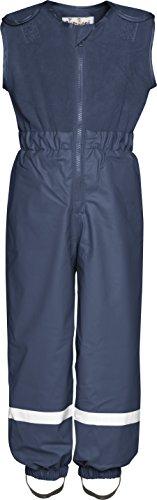 Playshoes Regenanzug für Kinder, Regen-Overall mit Fleece Latz, Wassersäule: 5000 mm, Blau (11 Marine ), 80